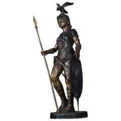 Large Cast Bronze Figure of Boudicca