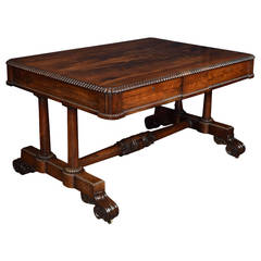 William IV Rosewood Writing or Centre Table