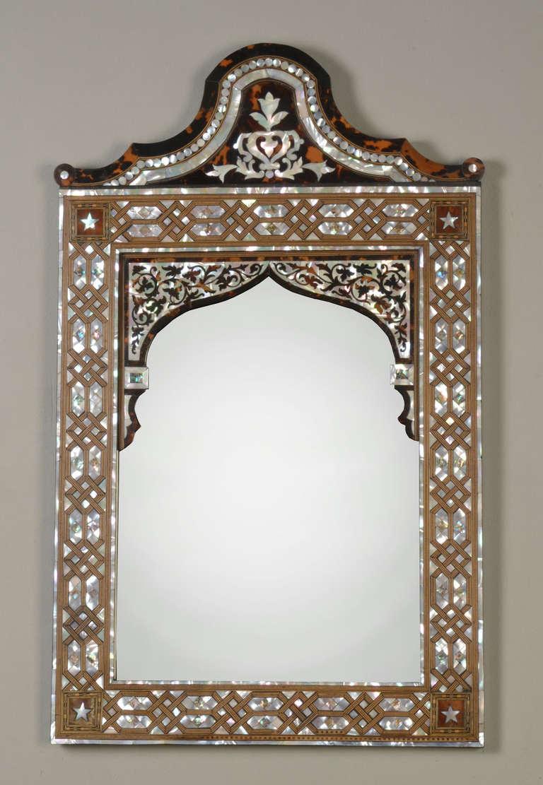 Large Teak Framed Mirror