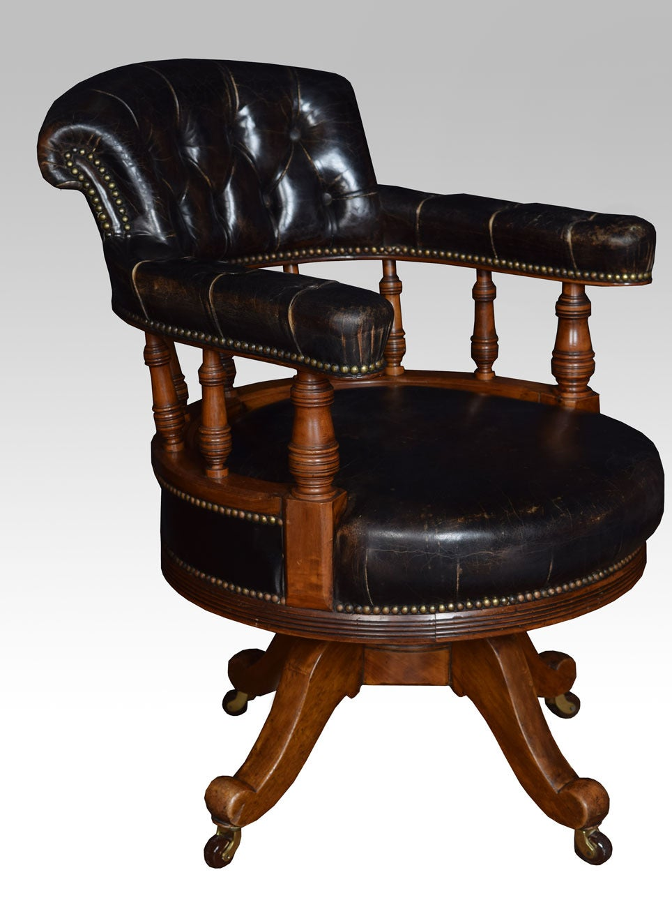 this walnut framed captain 39 s office chair is no longer available