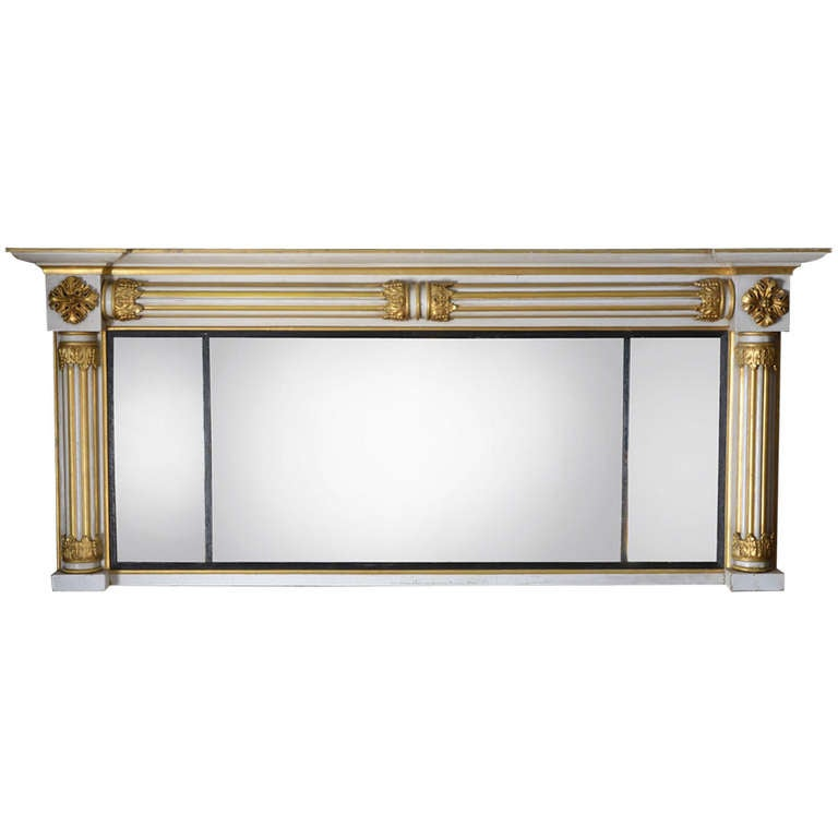 Regency Carved Giltwood Over Mantel Mirror At 1stdibs