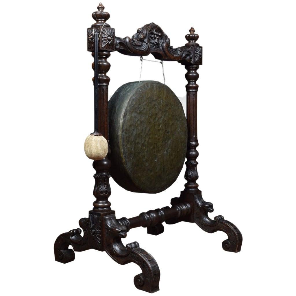 Victorian Carved Oak Dinner Gong