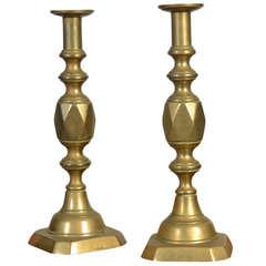 Pair of Ace of Diamonds Candle sticks