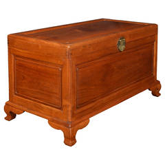 Chinese Export Camphor Wood Trunk Coffee Table