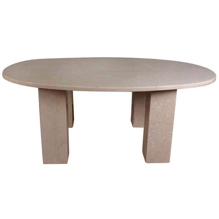 Large Marble Oval Dining Table For Sale At 1stdibs