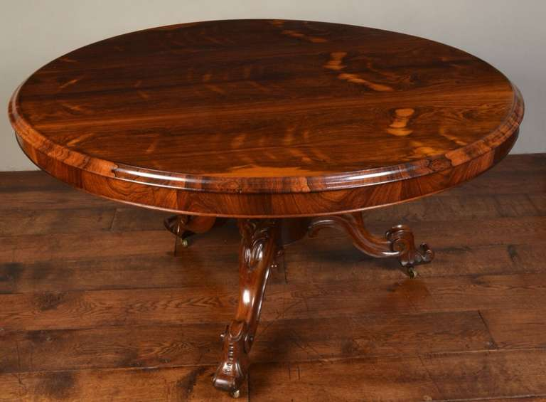 Victorian Rosewood Breakfast Table 3