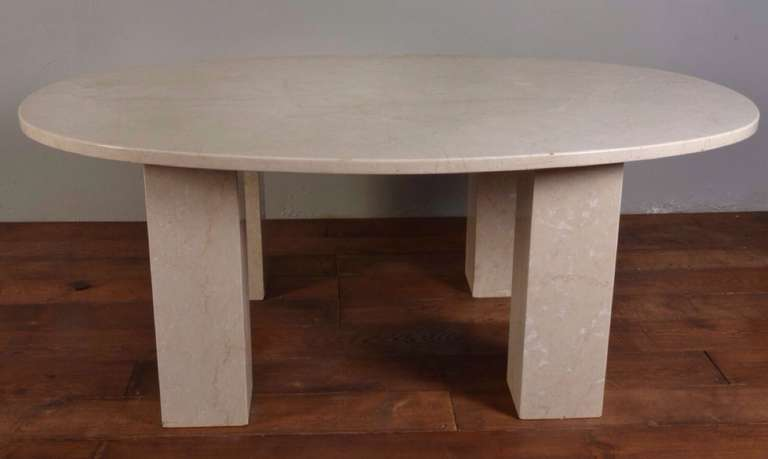 large six foot marble oval dining table at 1stdibs