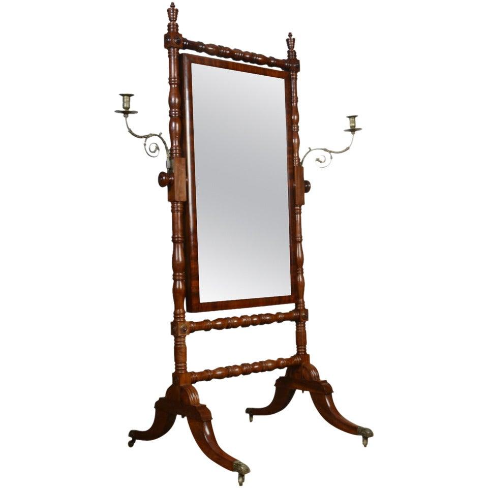 Regency Cheval Mirror For Sale