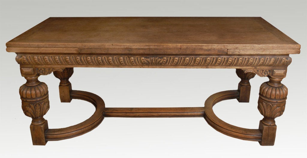 Oak Draw Leaf Refectory Table In The Elizabethan Manner At