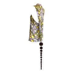 Jean Paul Gaultier Vintage 1990s RARE Space Dress w/ Pom Pom Tail ICONIC