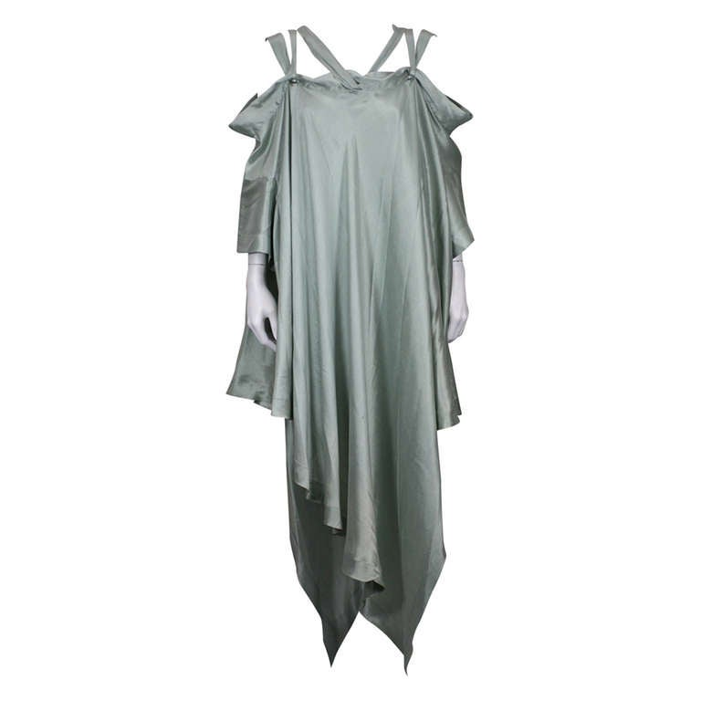 Romeo Gigli Celadon Silk Scarf Dress