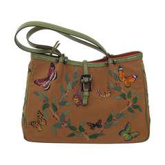 Renaud Pellegrino Paris butterfly appliqued handbag