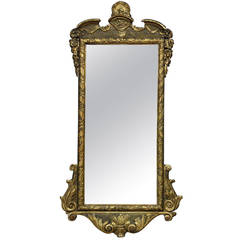 18th Century Style Carved Giltwood English Wall Mirror