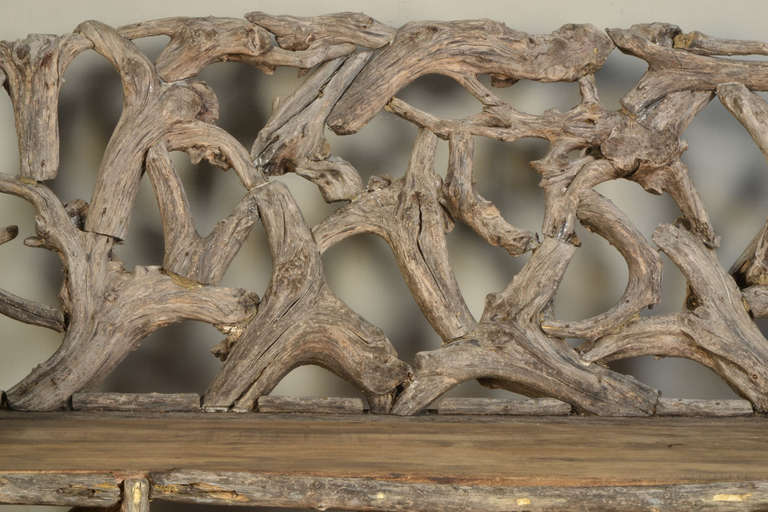 Gnarled Wood Garden Seat, Late 20th Century 8