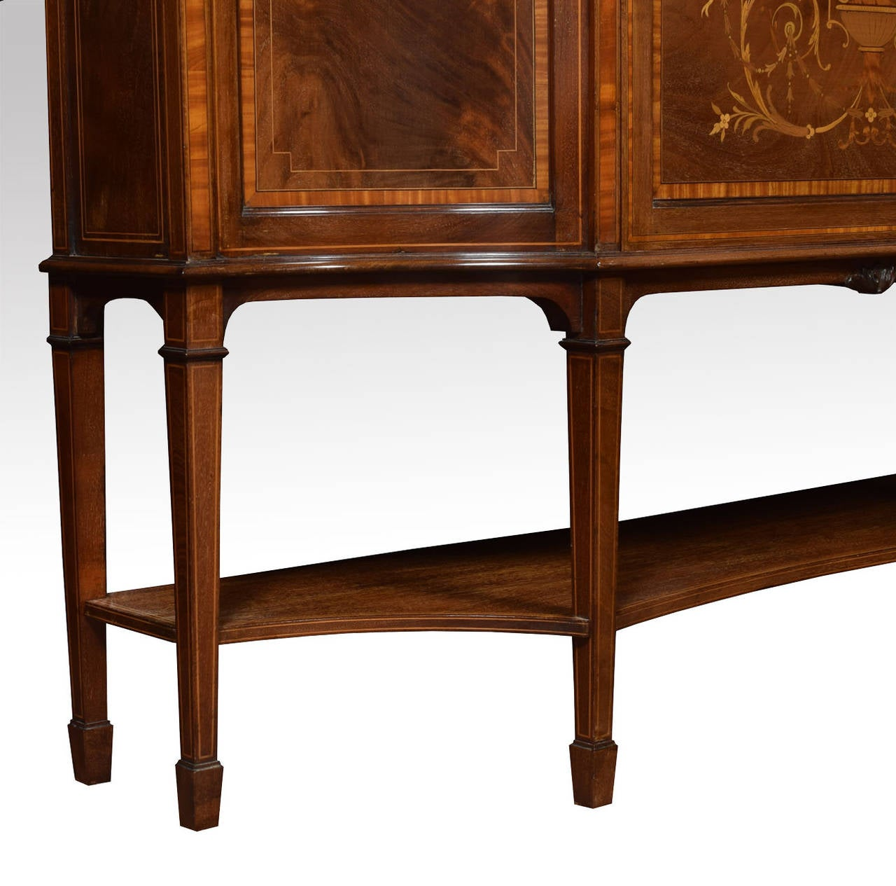Late 19th Century Mahogany Sheraton Revival Inlaid Display Cabinet 4