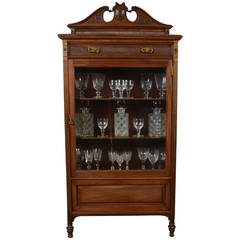 Mahogany Single-Door Display Cabinet