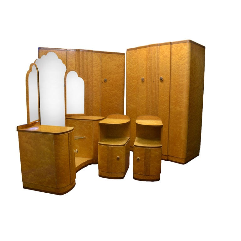 Art Deco Bedroom Suite Attributed To Epstein At 1stdibs
