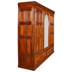 Gothic Three-Door Low Wardrobe