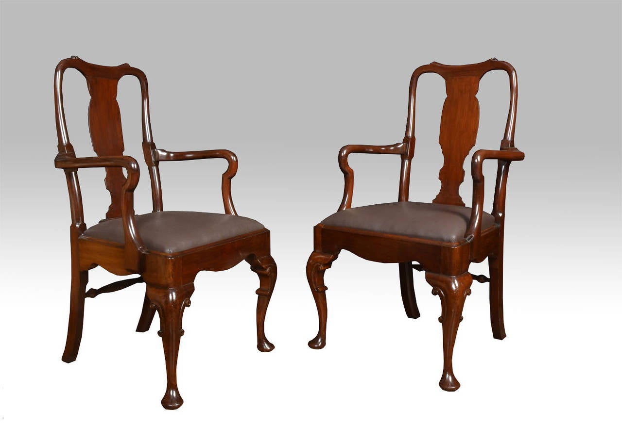 century queen anne style high back dining chairs for sale at 1stdibs