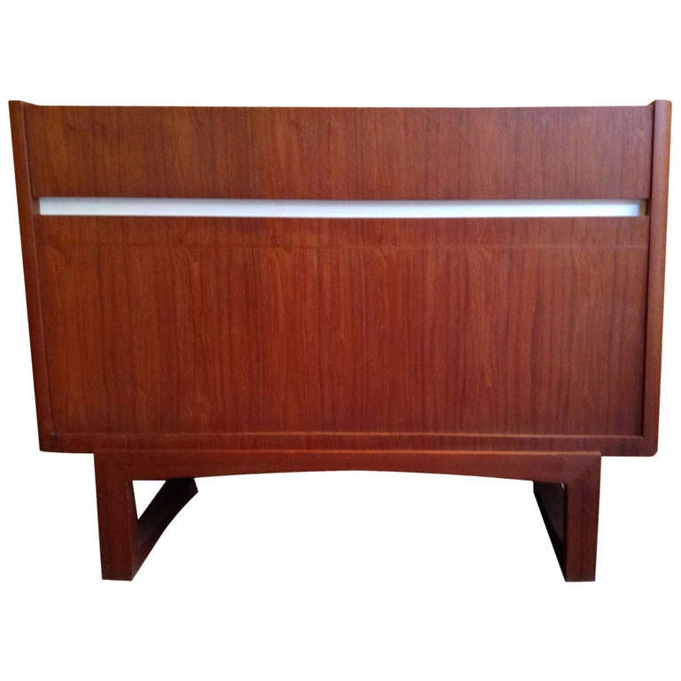 Teak Wood Pieces ~ Dry bar hifi case piece in teak wood circa at stdibs