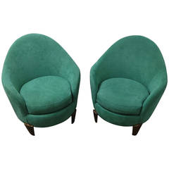 Pair of Koala armchairs by Garouste and Bonetti