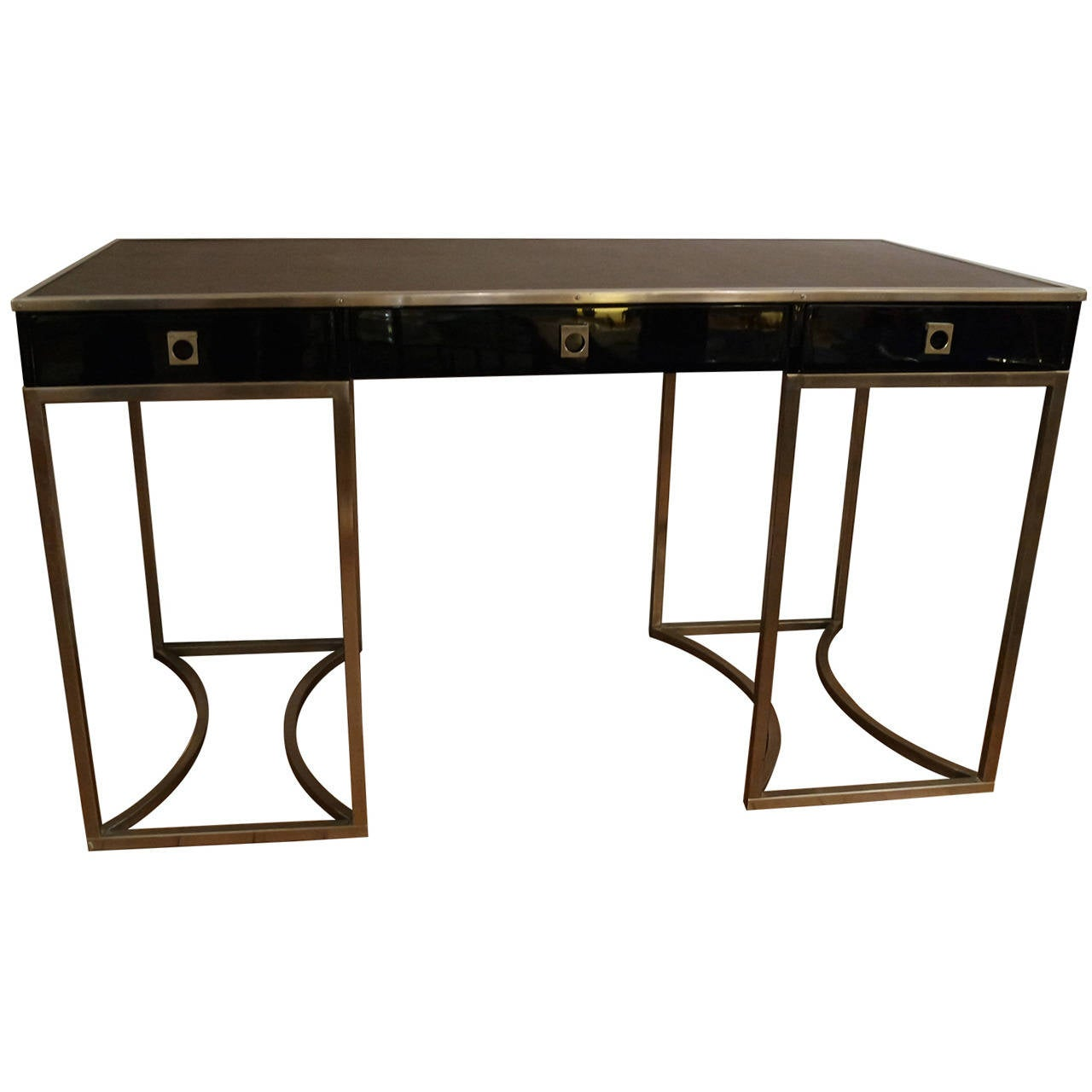 beautiful desk by guy lef 232 vre for jansen at 1stdibs