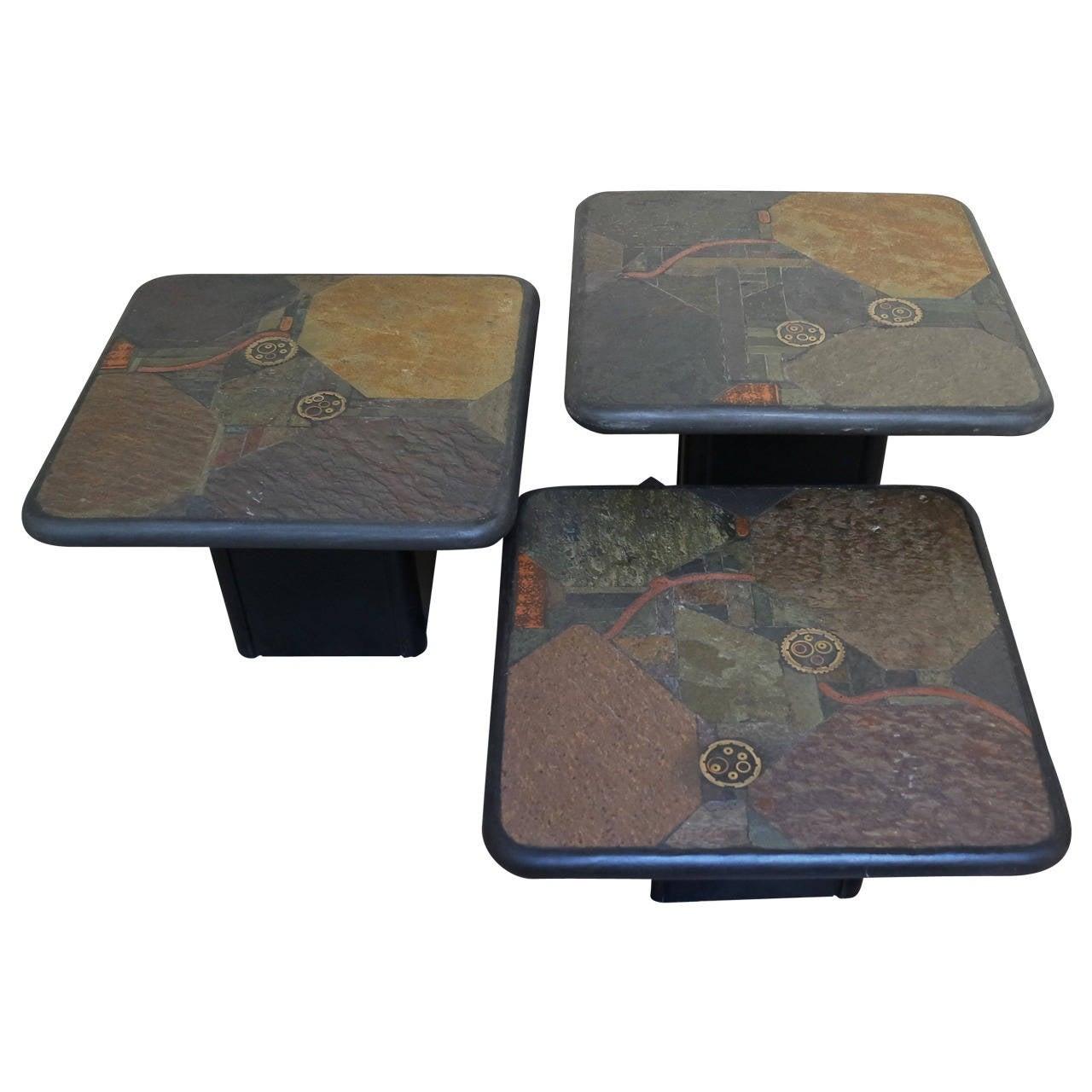 Set Of Three Paul Kingdma Coffee Tables At 1stdibs