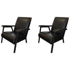 Important Pair of Jacques Quinet Armchairs