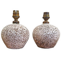 Two small ceramic lamps