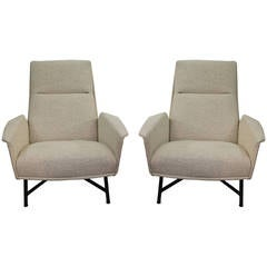Pair of armchairs by Claude Delor