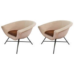 Pair of armchairs by Genevieve Dangles and Christian Defrance