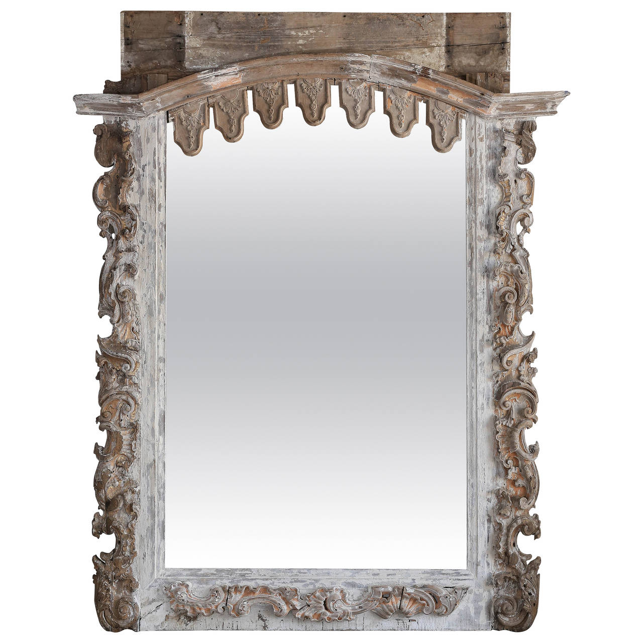 Mirror made with 17th century alter parts at 1stdibs for 17th century mirrors