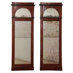 Pair of Mahogany Mirrors, Denmark Circa 1820