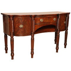 Early 19th Century Irish Regency Mahogany Serving Table, circa 1820