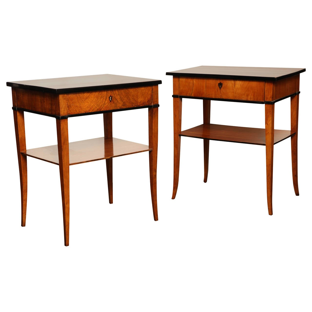 Two Similar Cherry Wood End Tables At 1stdibs