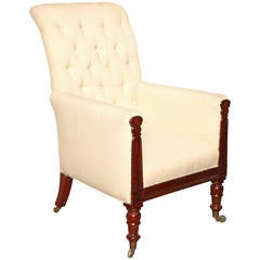 Early 19th Century English Library Armchair, circa 1830