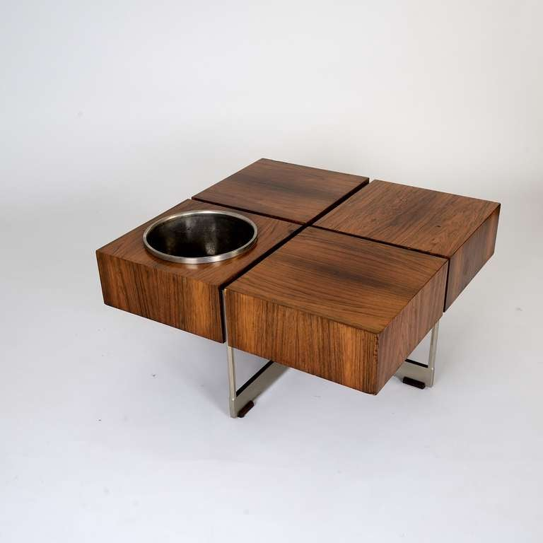 Unusual 39 50s coffee table with flower pot at 1stdibs for Quirky coffee tables