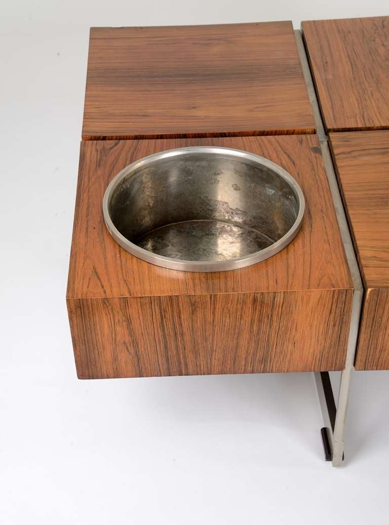 Unusual 50s Coffee Table With Flower Pot At 1stdibs