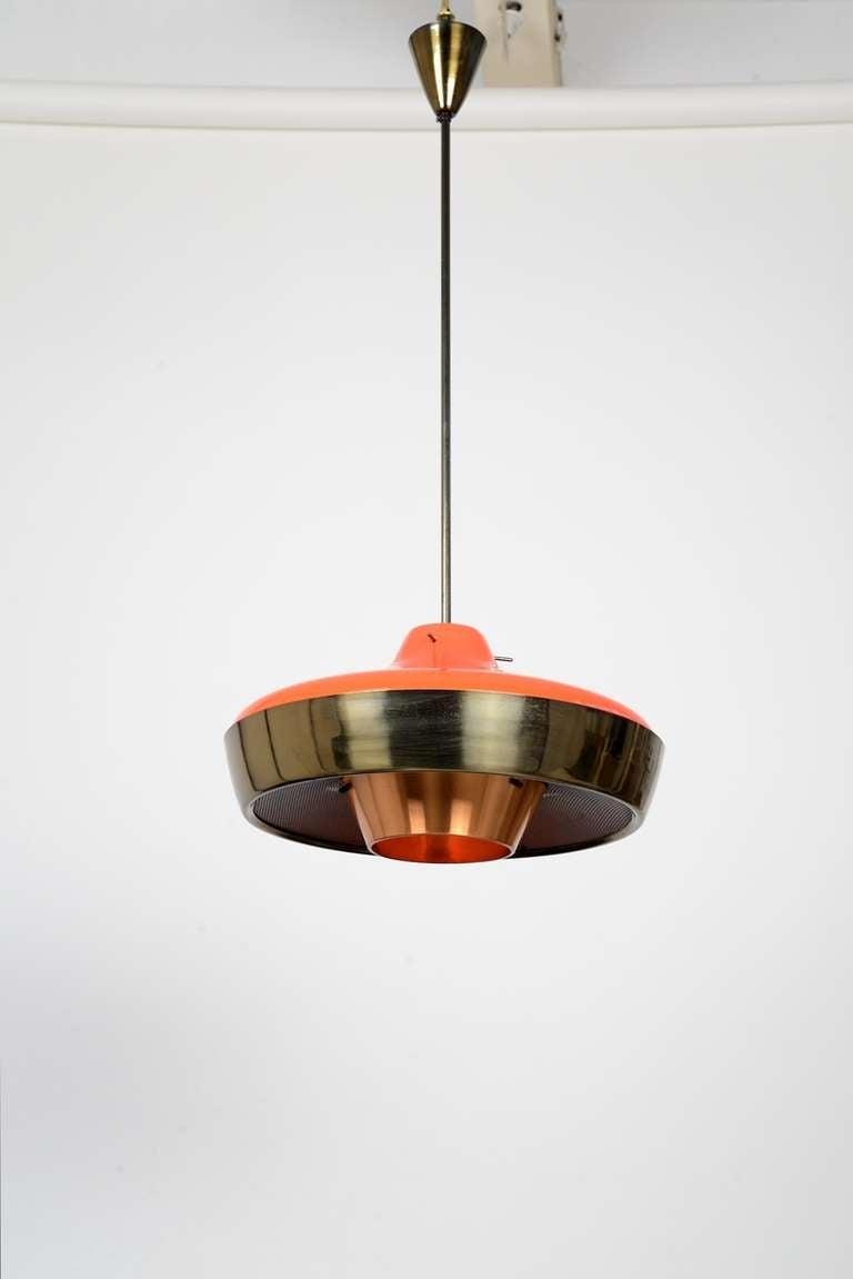 Unusual 50s Italian Pendant Light At 1stdibs