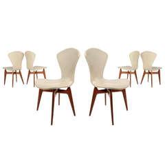 Set Of Six '50s Italian Chairs