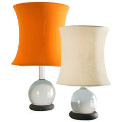 Pair of Lotus Table Lamps by Gianfranco Frattini for Meroni, 1966