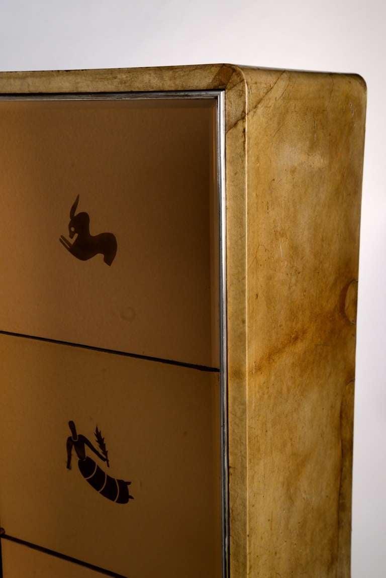 Mid-20th Century Extraordinary 1930 cabinet designed by Gio Ponti for Paolo Lietti & Figli