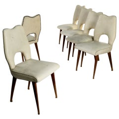 Set of six chairs manufactured in Italy in the '50s