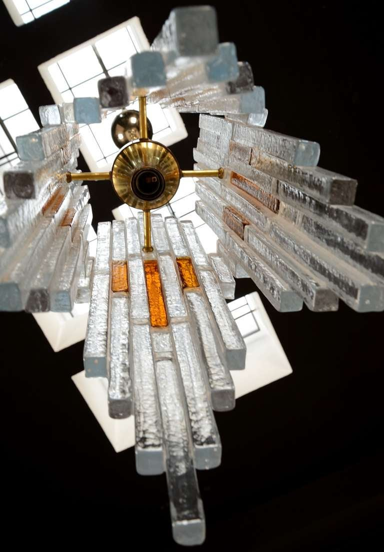 70s Chandelier By Poliarte At 1stdibs