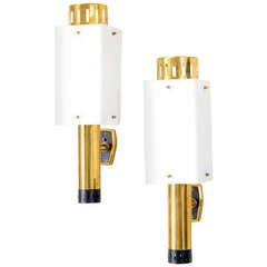 Pair of Stilnovo Wall Lamps Mod. 2136 from the 1950s