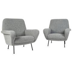 "Pair of Model ""830"" Armchairs by Gianfranco Frattini for Cassina, 1954"