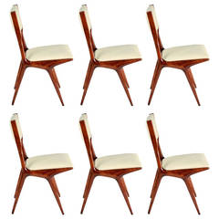 Set of Six Model 634 Chairs by Carlo de Carli for Cassina
