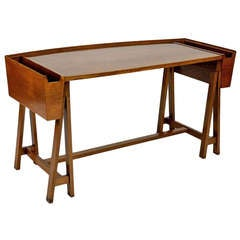 Unusual modernist italian goldsmith desk from the 1940s.