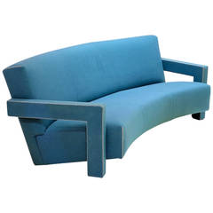 """""""637 Utrecht"""" Curved Sofa by Gerrit Rietveld for Cassina, Designed in 1935"""