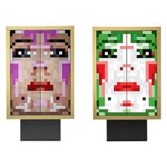 "Pair of ""A viso aperto"" cabinets by Anna Gili for Zero Disegno, 2011"
